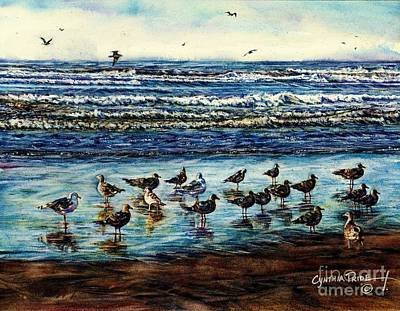 Seagull Get-together Art Print