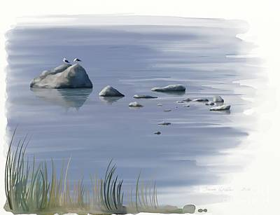 Painting - Gull Siesta by Ivana Westin