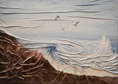 Mixed Media - Seagulls by Angela Stout