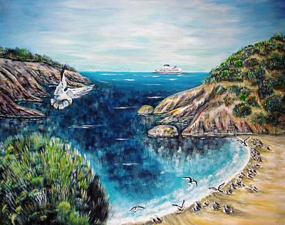 Seagull's Flight Original by Katreen Queen