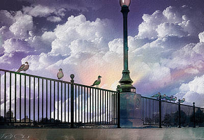 Photograph - Seagulls On A Rail by Phil Clark