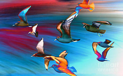 Seagulls Art Print by Jacky Gerritsen