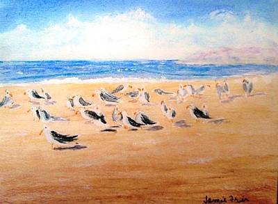 Painting - Seagulls Sunning by Jamie Frier