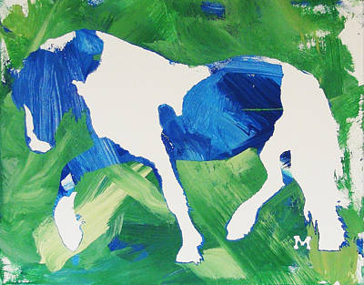 Painting - Seahawks Horse by Candace Shrope