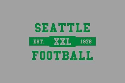 Seahawks Retro Shirt Art Print