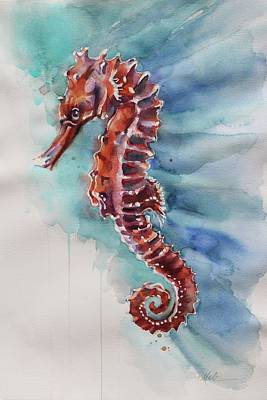 Painting - Seahorse 2 by Tracy Male