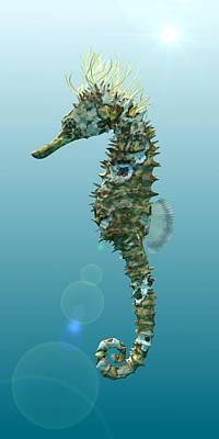 Seahorse 3d Render Original by Nathan Ryan