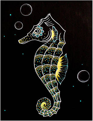 Animals Painting - Seahorse by Allison Liffman