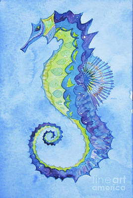 Painting - Seahorse by Anne Marie Brown