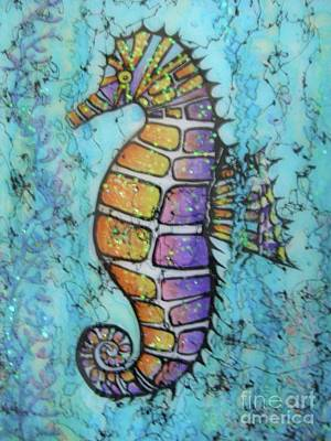 Wall Art - Painting - Seahorse Downunder by Midge Pippel