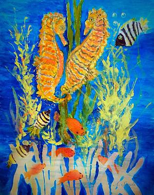 Painting - Seahorse Hangout by Anne Sands