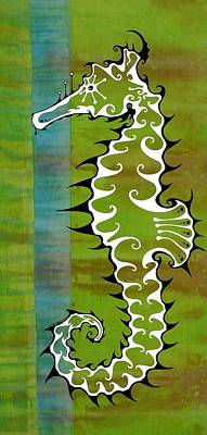 Seahorse Painting - Seahorse by John Benko