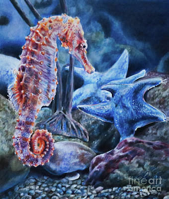Painting - Seahorse by Lachri