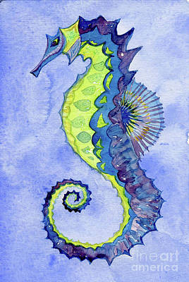 Painting - Seahorse Noveau by Anne Marie Brown