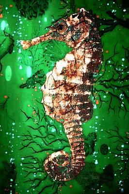 Digital Art - Seahorse Of The Emerald Sea by Barbara Chichester
