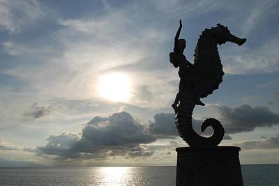 Seahorse Silhouette Art Print