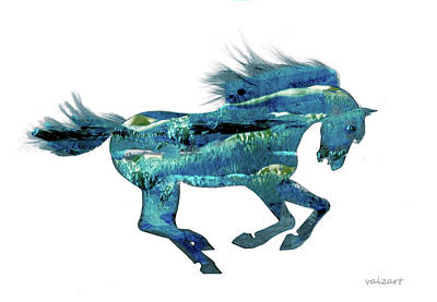 Painting - Seahorse By V.kelly by Valerie Anne Kelly