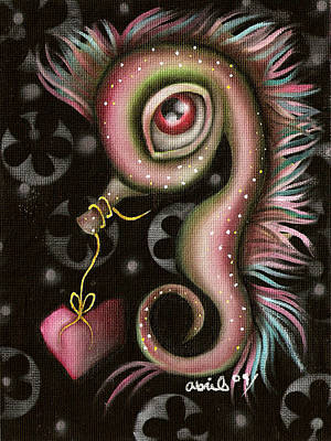 Seahorse With Heart Art Print by  Abril Andrade Griffith