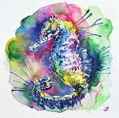Painting - Seahorse by Zaira Dzhaubaeva