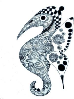 seahorse drawing seahorses by rudolf sechovec