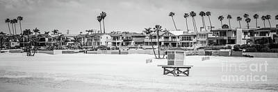 Shack Photograph - Seal Beach Black And White Panorama Picture by Paul Velgos