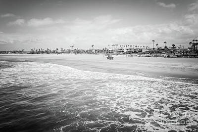 Shack Photograph - Seal Beach California Black And White Photo by Paul Velgos