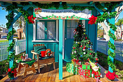 Photograph - Seal Beach Christmas House by Robert Meyers-Lussier