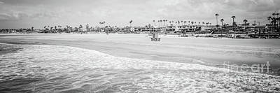Shack Photograph - Seal Beach Panorama Black And White Photo by Paul Velgos