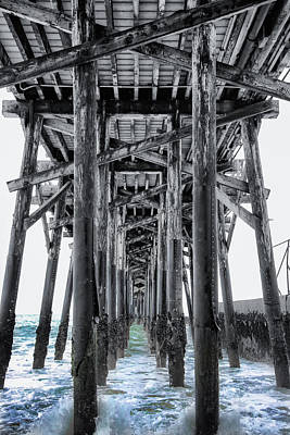 Seal Beach Pier Print by Rosanne Nitti