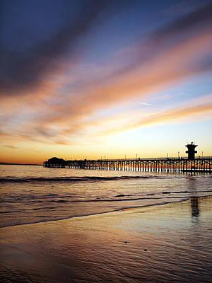 Seal Beach Sunset #4 Original by George Pennock