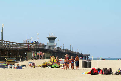 Photograph - Seal Beach Surf Camp by Art Block Collections