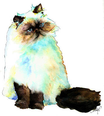 Painting - Seal Himalayan Cat by Christy  Freeman