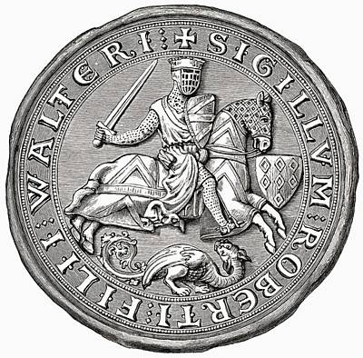 Lord Drawing - Seal Of Robert Fitzwalter. Lord Robert by Vintage Design Pics