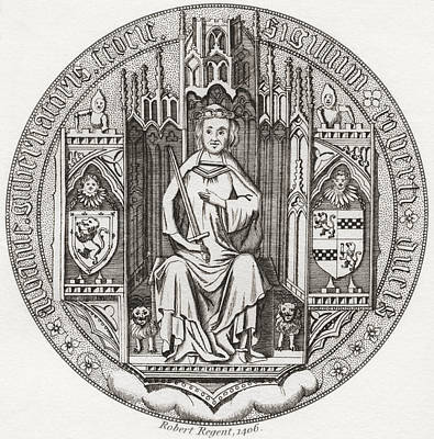 Fife Drawing - Seal Of Robert Stewart, Duke Of Albany by Vintage Design Pics