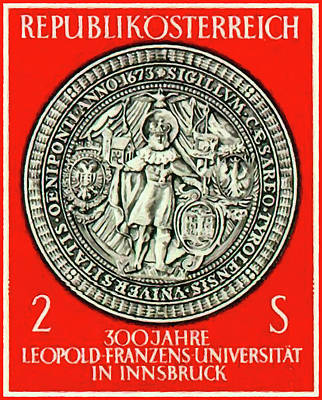 Painting - Seal Of St. Leopold University by Lanjee Chee