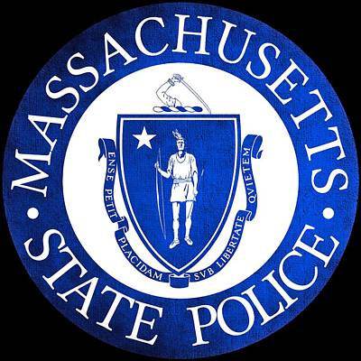 Hallmark Photograph - Seal Of The Massachusetts State Police by Tom Lemmons