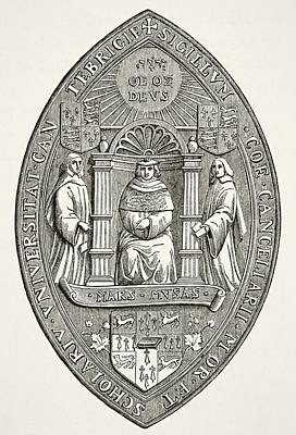 Cambridge Drawing - Seal Of The University Of Cambridge by Vintage Design Pics