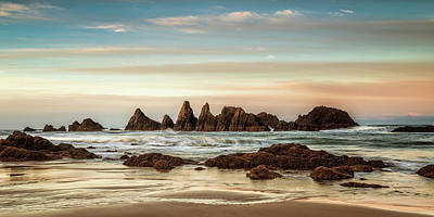 Photograph - Seal Rock Morning Panorama by Andrew Soundarajan