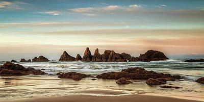 Photograph - Seal Rock Morning Panorama by Andrew Soundarajan
