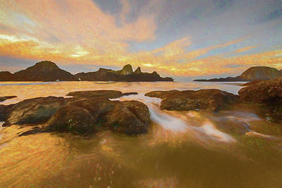 Photograph - Seal Rock Sunset by Michael Balen