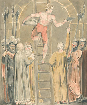 William Blake Painting - Sealing The Stone And Setting A Watch by William Blake