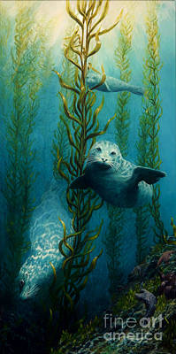Painting - Seals Of The Sea by Ruanna Sion Shadd a'Dann'l Yoder