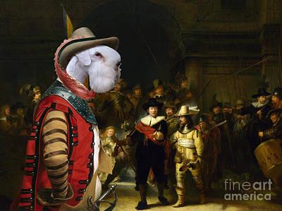 Painting - Sealyham Terrier Art - The Company Of Captain by Sandra Sij