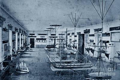 Photograph - Seamanship Room At U S Naval Academy 1870 by California Views Mr Pat Hathaway Archives