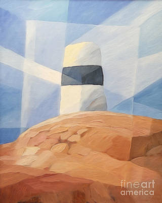 Beacon Painting - Seamark by Lutz Baar