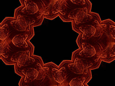 Seamless Kaleidoscope Copper Saturated Art Print