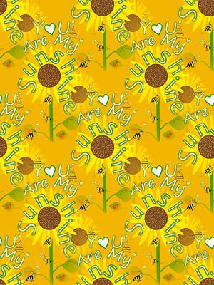 Digital Art - Seamless Sunflower by Kathleen Sartoris