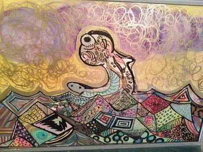 Seamonster Art Print by Alexa Soules