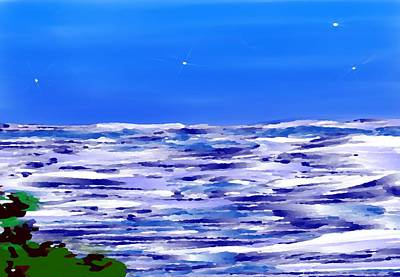 Art Print featuring the digital art Sea.moon Light by Dr Loifer Vladimir