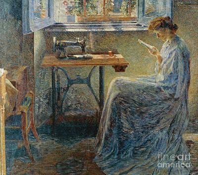 Sewing Machines Painting - Seamstress Novel by Umberto Boccioni